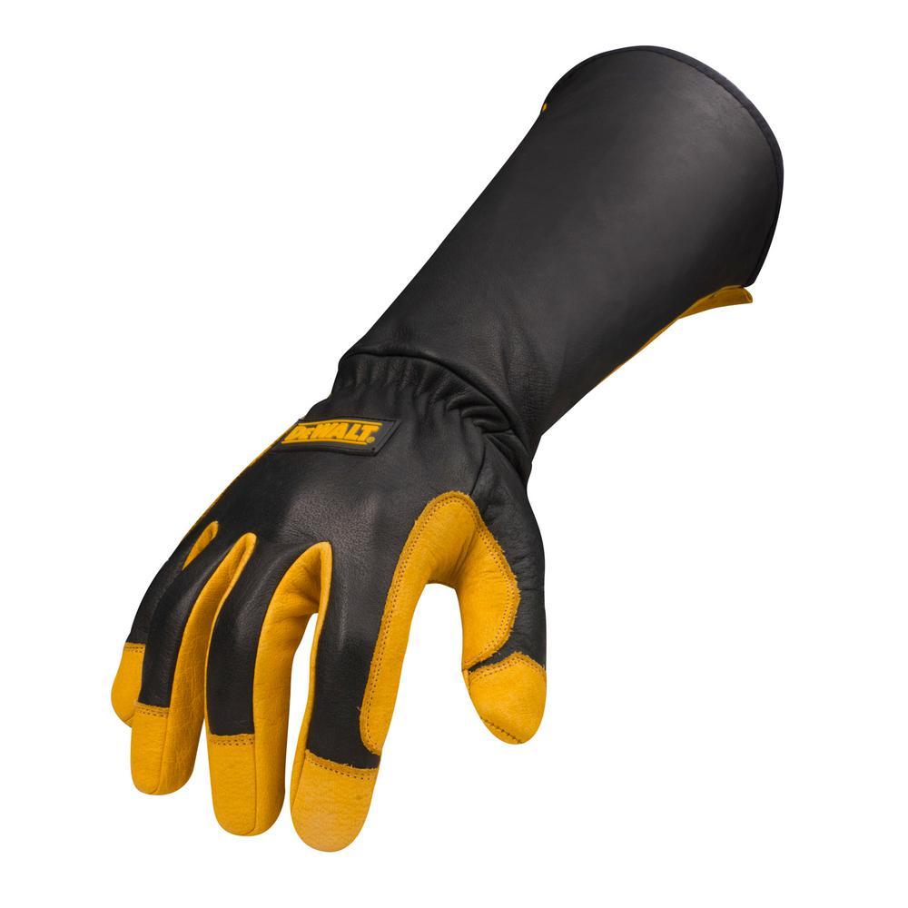 """Welding Gloves Padded Long-Cuff Split Cowhide Stick 21/"""" Welding Grill"""
