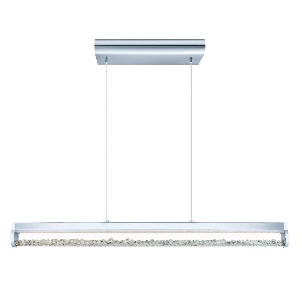 Trevelo 100-Watt Chrome Integrated LED Pendant