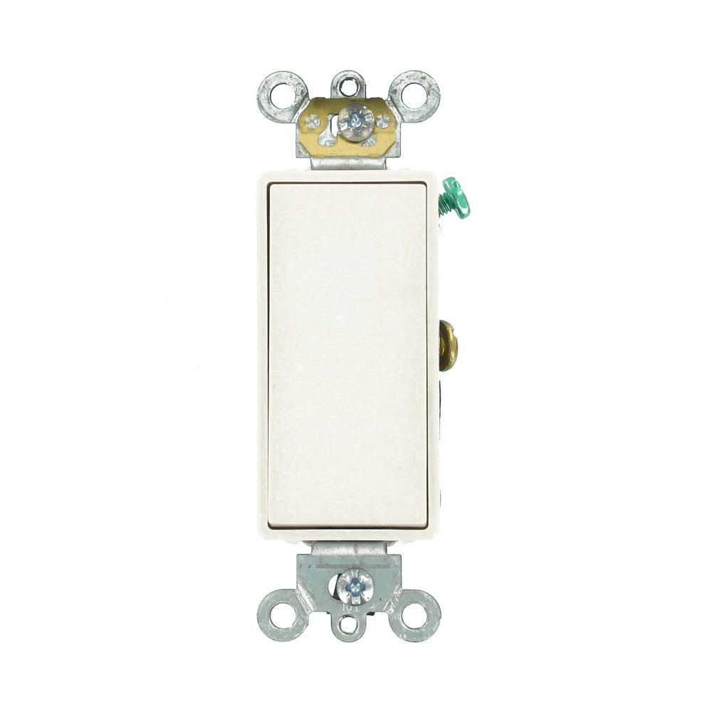 Leviton Decora Plus 15 Amp Switch, White