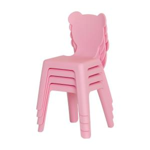 Cool South Shore Crea Pink Plastic Stacking Kids Chair Set Of 4 Dailytribune Chair Design For Home Dailytribuneorg