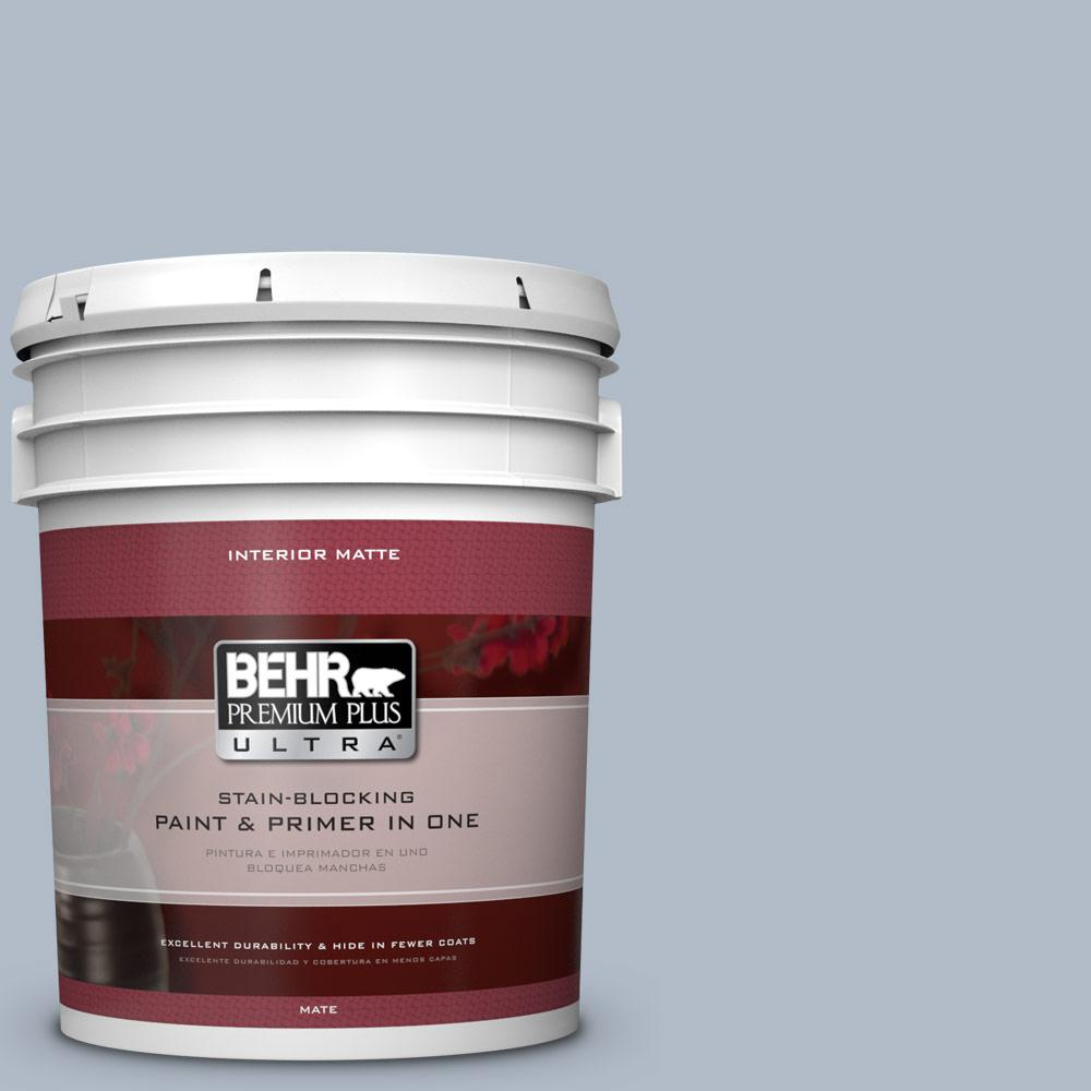 5 gal. #PPU14-12 Hazy Skies Matte Interior Paint and Primer in