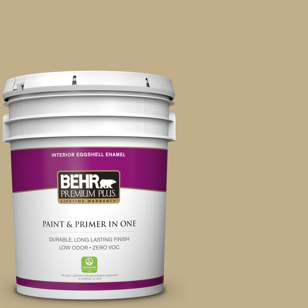 BEHR Premium Plus 5-gal. #S320-4 Oat Field Eggshell Enamel Interior Paint