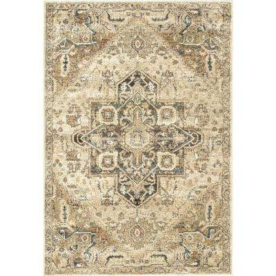 Tabetha Tribal Medallion Tan 5 ft. x 7 ft. 5 in. Area Rug