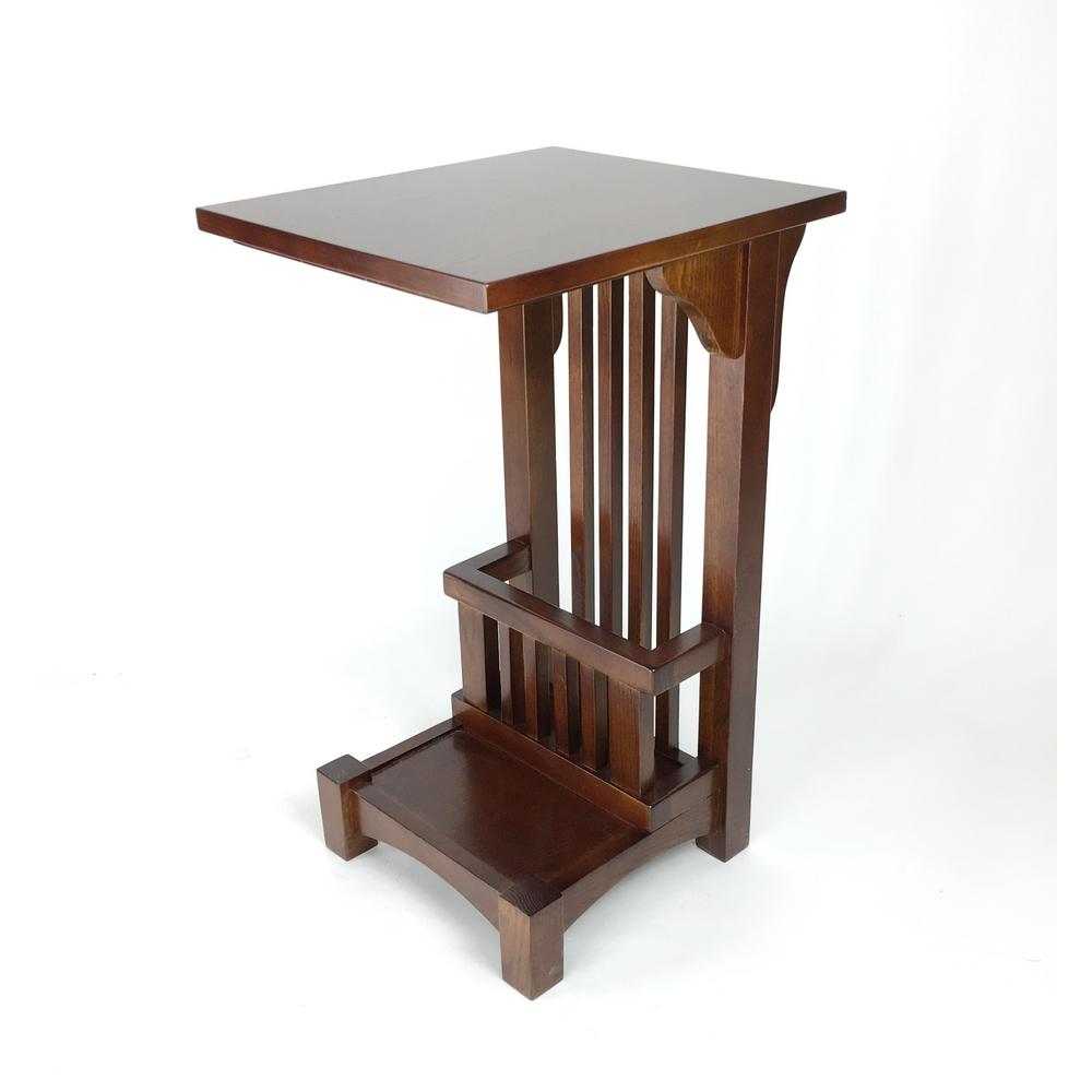 Merveilleux Wayborn Brown Mission Side Table