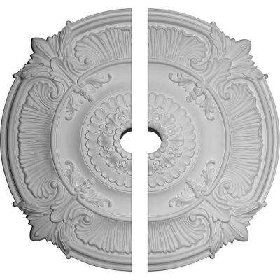 53-1/2 in. O.D. x 5 in. I.D. x 3-1/2 in. P Attica Ceiling Medallion (2-Piece)