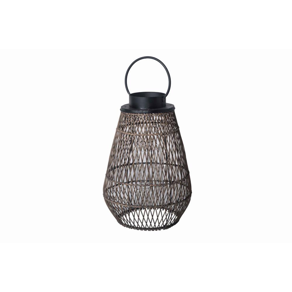 Hampton Bay Large Outdoor Bamboo Lantern D7lt00387a The