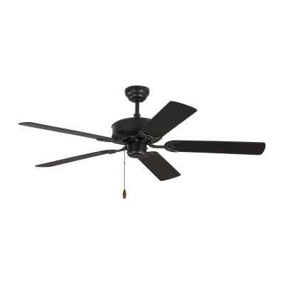 Haven 52 in. Matte Black Ceiling Fan with Matte Black Blades