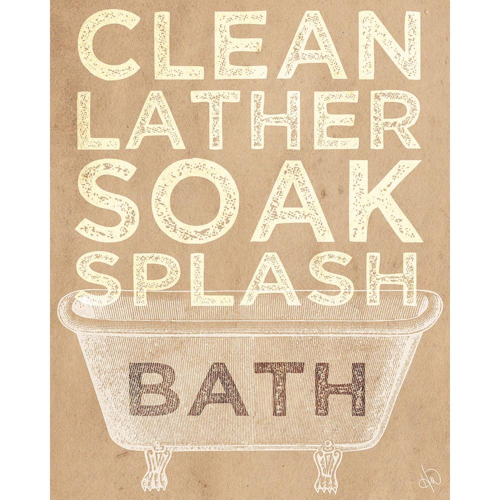 "16 in. x 20 in. ""Clean Lather Soak Splash Delta"" Planked"