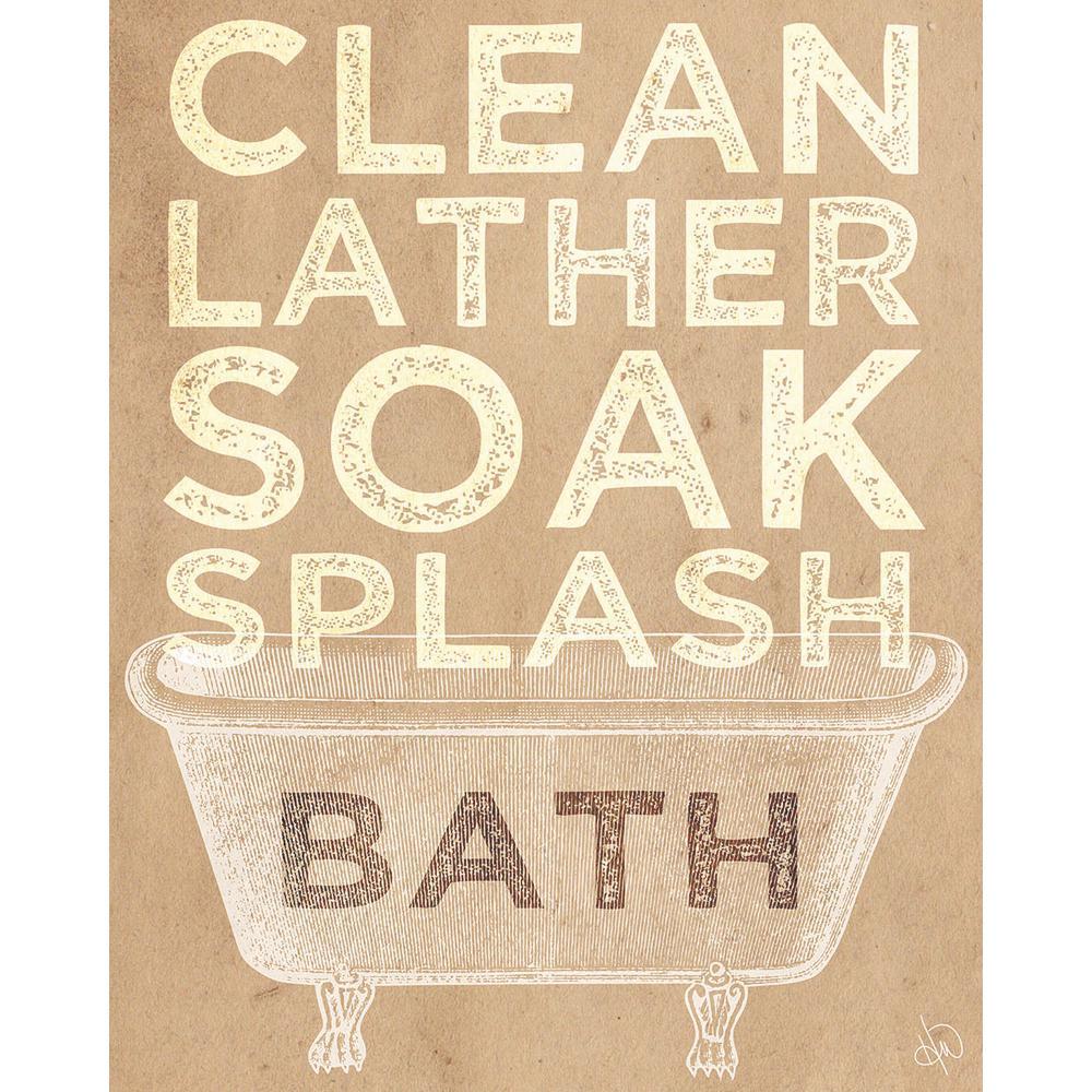 "20 in. x 24 in. ""Clean Lather Soak Splash Delta"" Planked Wood Wall Art Print"