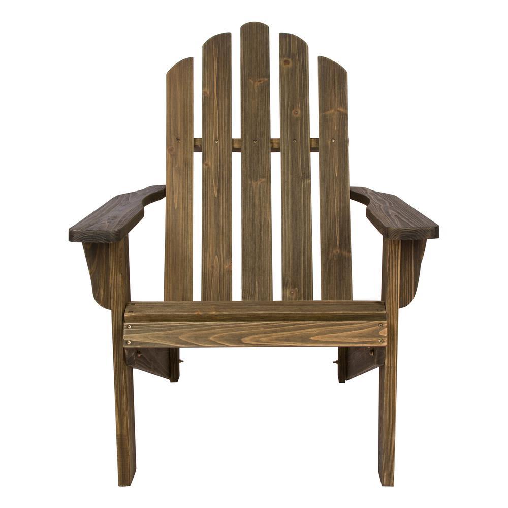 Marina Barnwood Rustic Cedar Wood Adirondack Chair