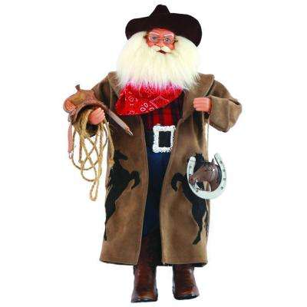 18 in. Cowboy Santa with Horseshoe