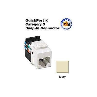 QuickPort CAT 3 Connector, Ivory
