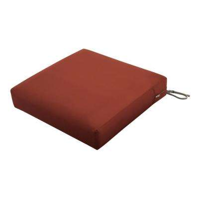 Ravenna Spice 21 in. W x 25 in. D x 5 in. T Deep Seating Outdoor Lounge Chair Cushion