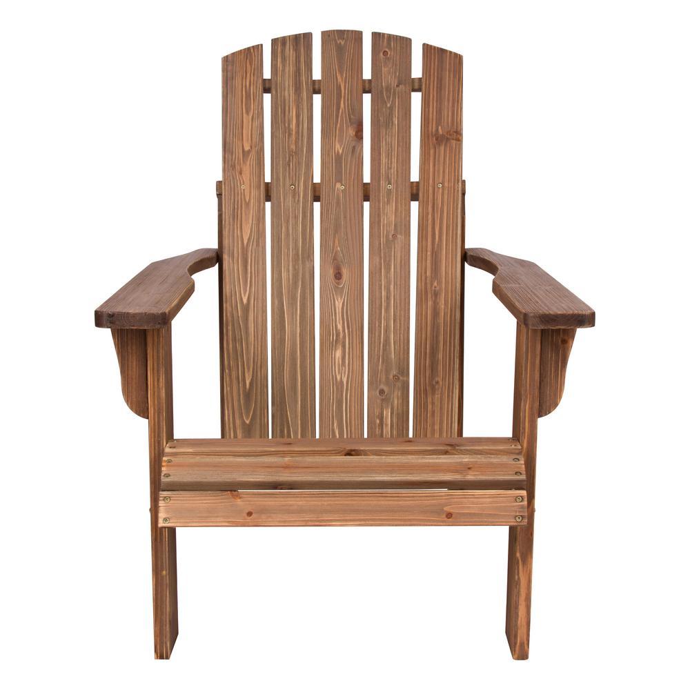 Shine Company Lakewood Cedar Wood Rustic Adirondack Chair - Rustic Wine