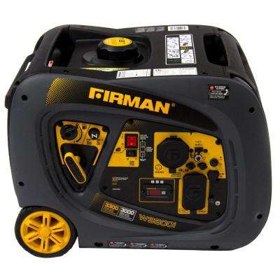 Whisper Series 3000-Watt Gasoline Powered Recoil Start Portable Generator with Firman Engine