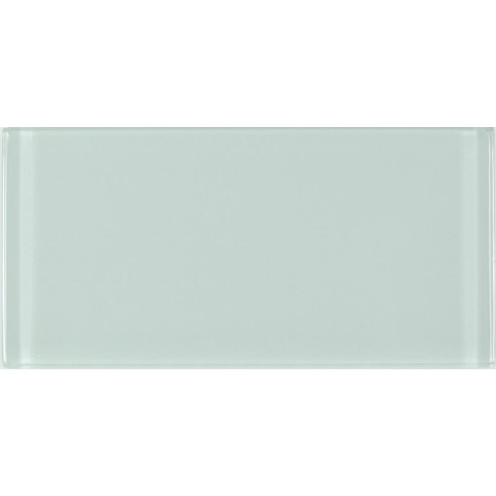 Metro 3 in. x 6 in. Arctic Blue Green Glass Peel