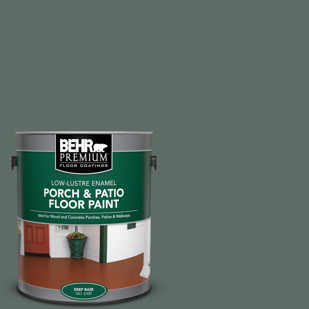 Behr Premium 1 Gal 700f 6 Dense Shrub Low Lustre Enamel Interior Exterior Porch And Patio Floor Paint 630001 The Home Depot