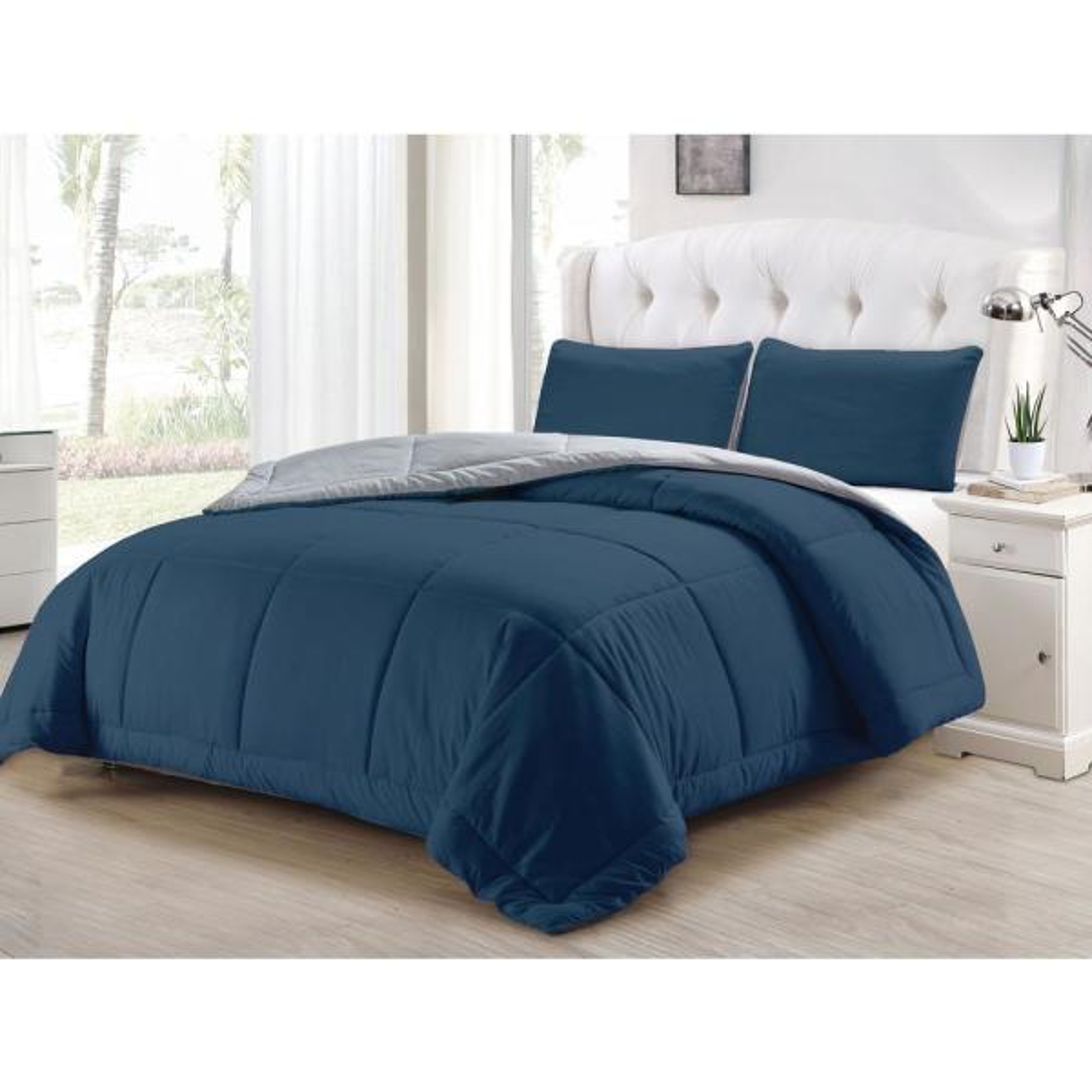 Kensie Samantha Twin 2-Piece Blue-Light Grey Comforter Set SAMANTHA 10557D=1