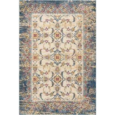 Cordoba Ivory/Blue 5 ft. 3 in. x 7 ft. 3 in. Area Rug