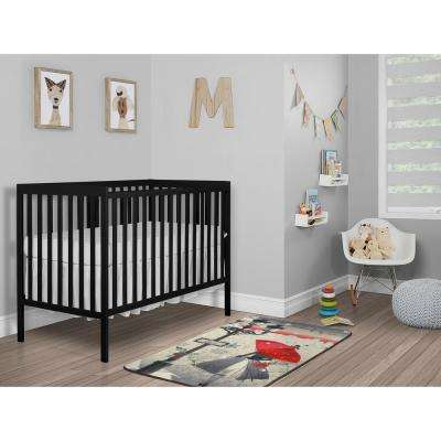 Synergy Black 5-in-1 Convertible Crib