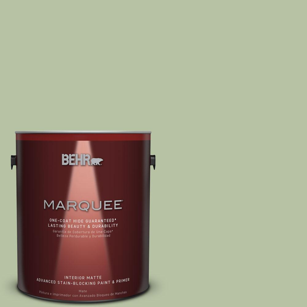 1 gal. #M380-4 Chopped Dill One-Coat Hide Matte Interior Paint