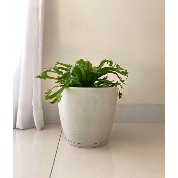 Reviews For Floridis Amsterdan Extra Small White Marble Effect Resin Planter Bowl 10 16 0514 The Home Depot