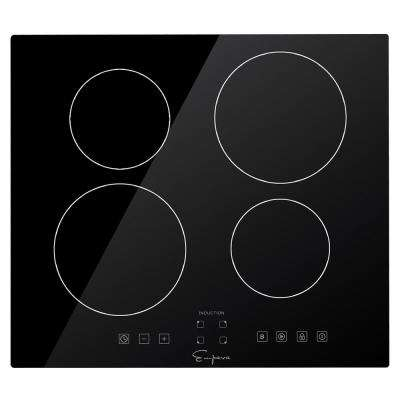 24 in. Built-in Electric Induction Modular Cooktop in Black with 4 Elements including Power Burners