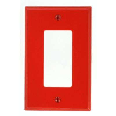 1-Gang Decora Midway Nylon Wall Plate, Red