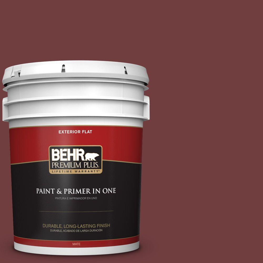 BEHR Premium Plus 5-gal. #S-H-150 Chianti Flat Exterior Paint