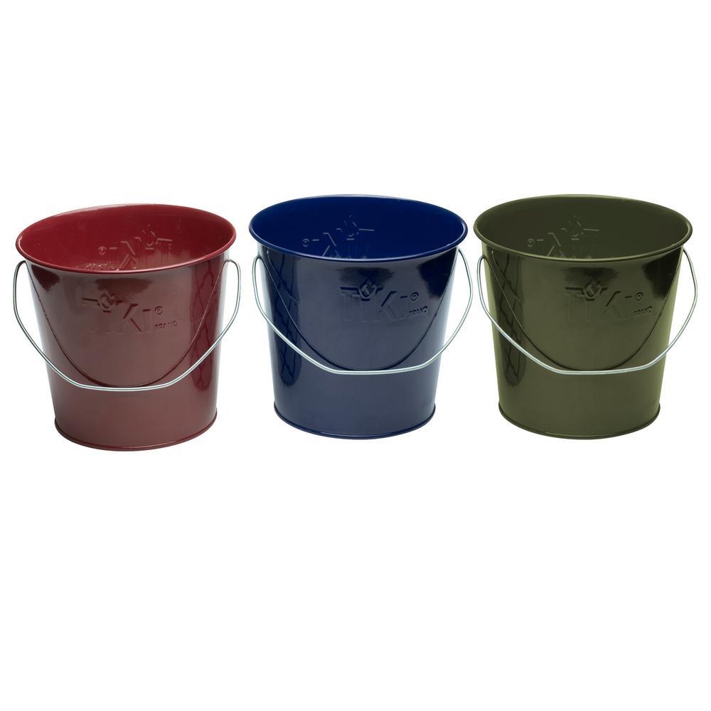 17 oz. Wax Bucket Candle Lavish Woodland Navy Blue, Army Green