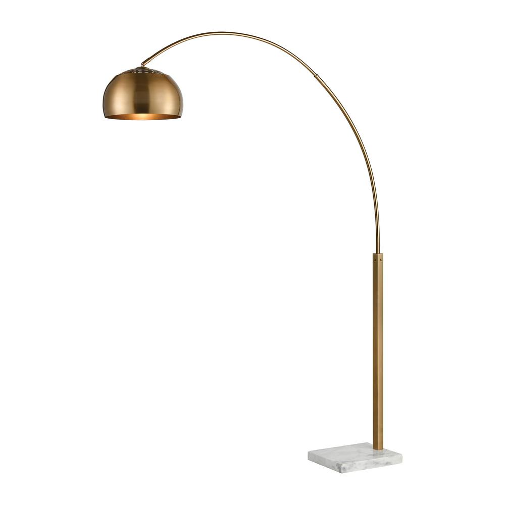 Solar Flair 77 in. Aged Brass Floor Lamp