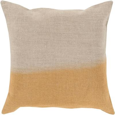 Roxbury Yellow Striped Polyester 18 in. x 18 in. Throw Pillow