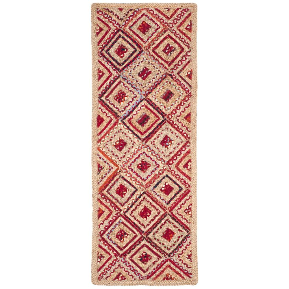 Safavieh Cape Cod Natural/Red 2 ft. 3 in. x 6 ft. Runner