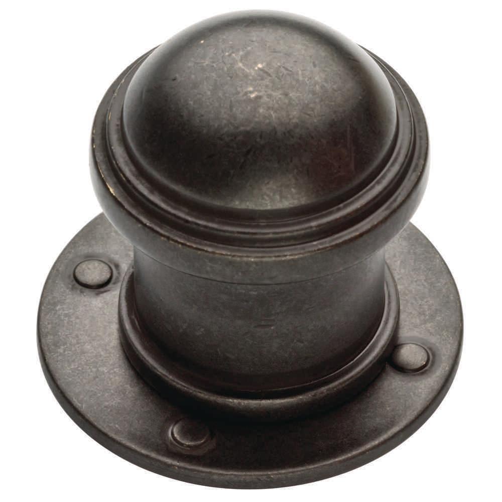 Industrial 1-1/5 in. (31mm) Soft Iron Round Cabinet Knob