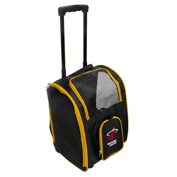 Denco NBA Miami Heat Pet Carrier Premium Bag with wheels in