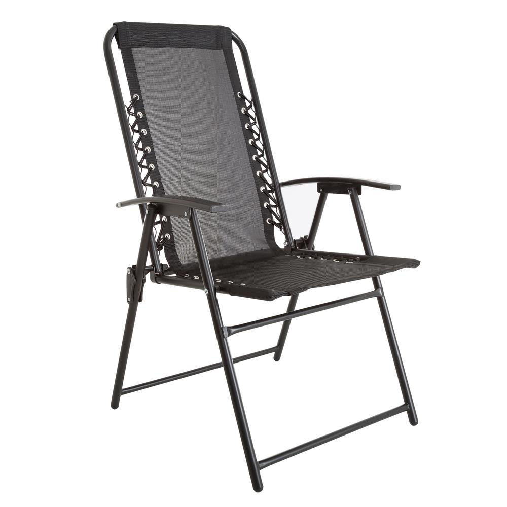 Pure Garden Patio Lawn Chair In Black M150120 The Home Depot