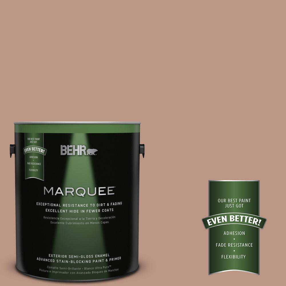 1-gal. #S190-4 Spiced Brandy Semi-Gloss Enamel Exterior Paint