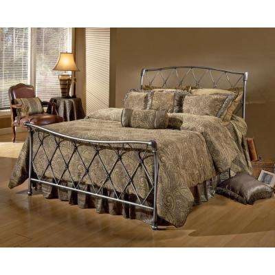 Silverton Brushed Silver Full Sleigh Bed