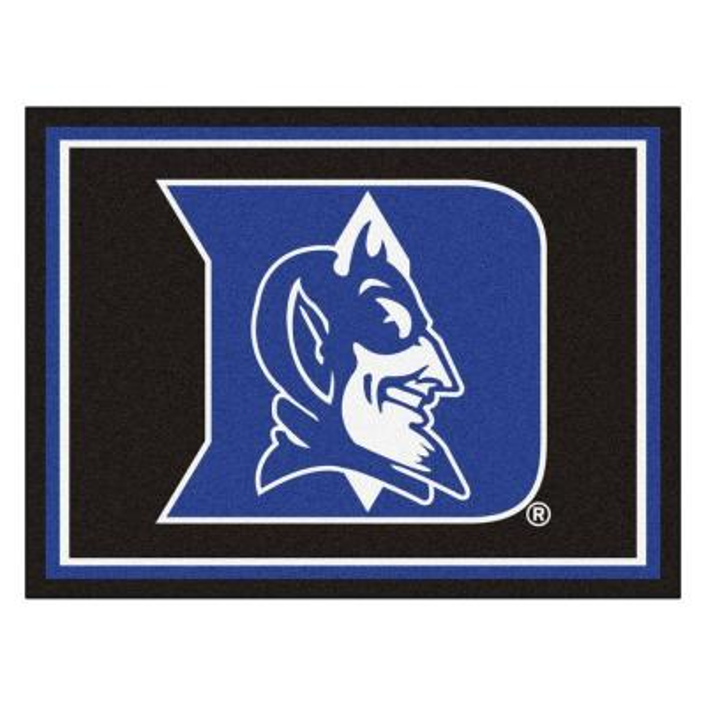 NCAA Duke University Black 8 ft. x 10 ft. Indoor Area Rug