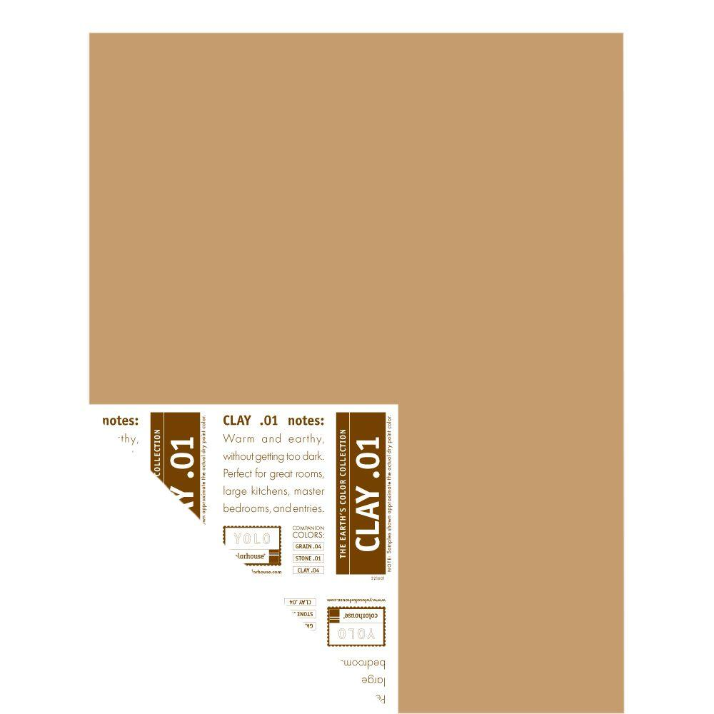 YOLO Colorhouse 12 in. x 16 in. Clay .01 Pre-Painted Big Chip Sample