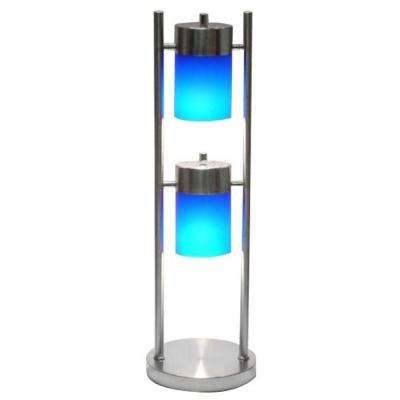 25 in. 2-Light Blue Adjustable Table Lamp