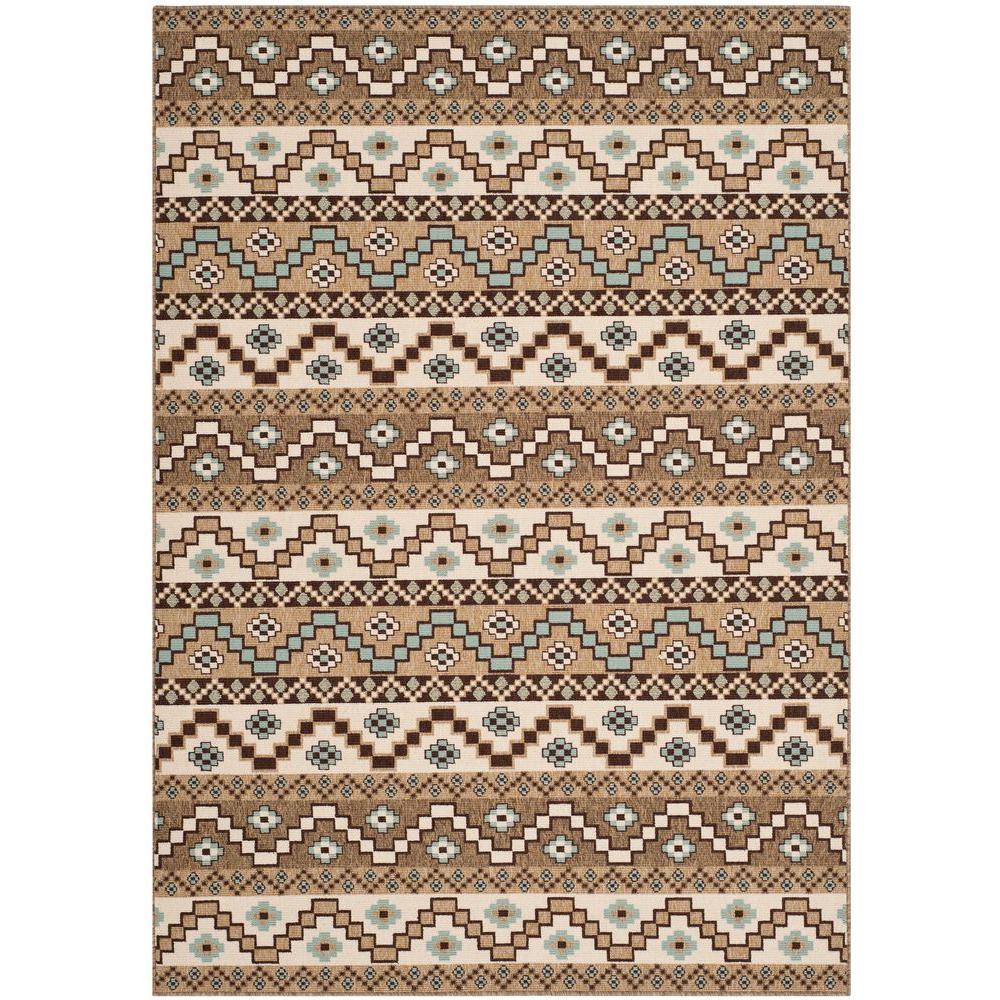 Safavieh Veranda Creme/Brown 8 ft. x 11 ft. 2 in. Indoor/...