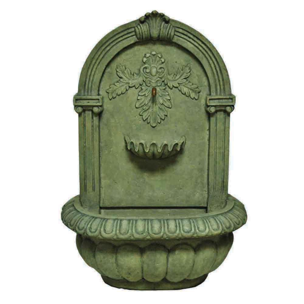 34.25 in. H Wall Fountain in Old Stone Finish