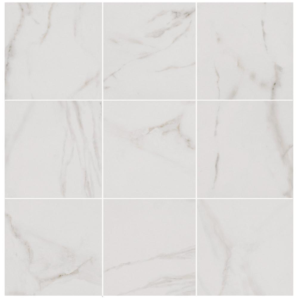 Florida Tile Home Collection Michelangelo White 12 in. x 12 in. Porcelain Floor and Wall Tile (487.22 sq. ft./ pallet)
