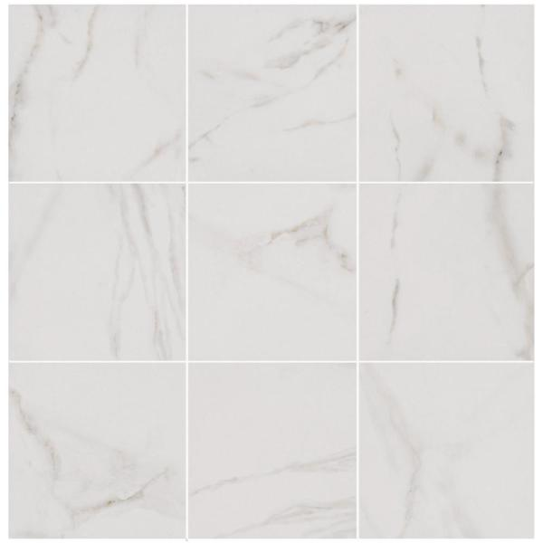 Michelangelo White 12 in. x 12 in. Porcelain Floor and Wall Tile (487.22 sq. ft./ pallet)