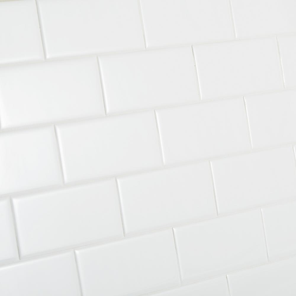 Daltile Re Bright White 3 In X 6 Ceramic Modular Wall Tile