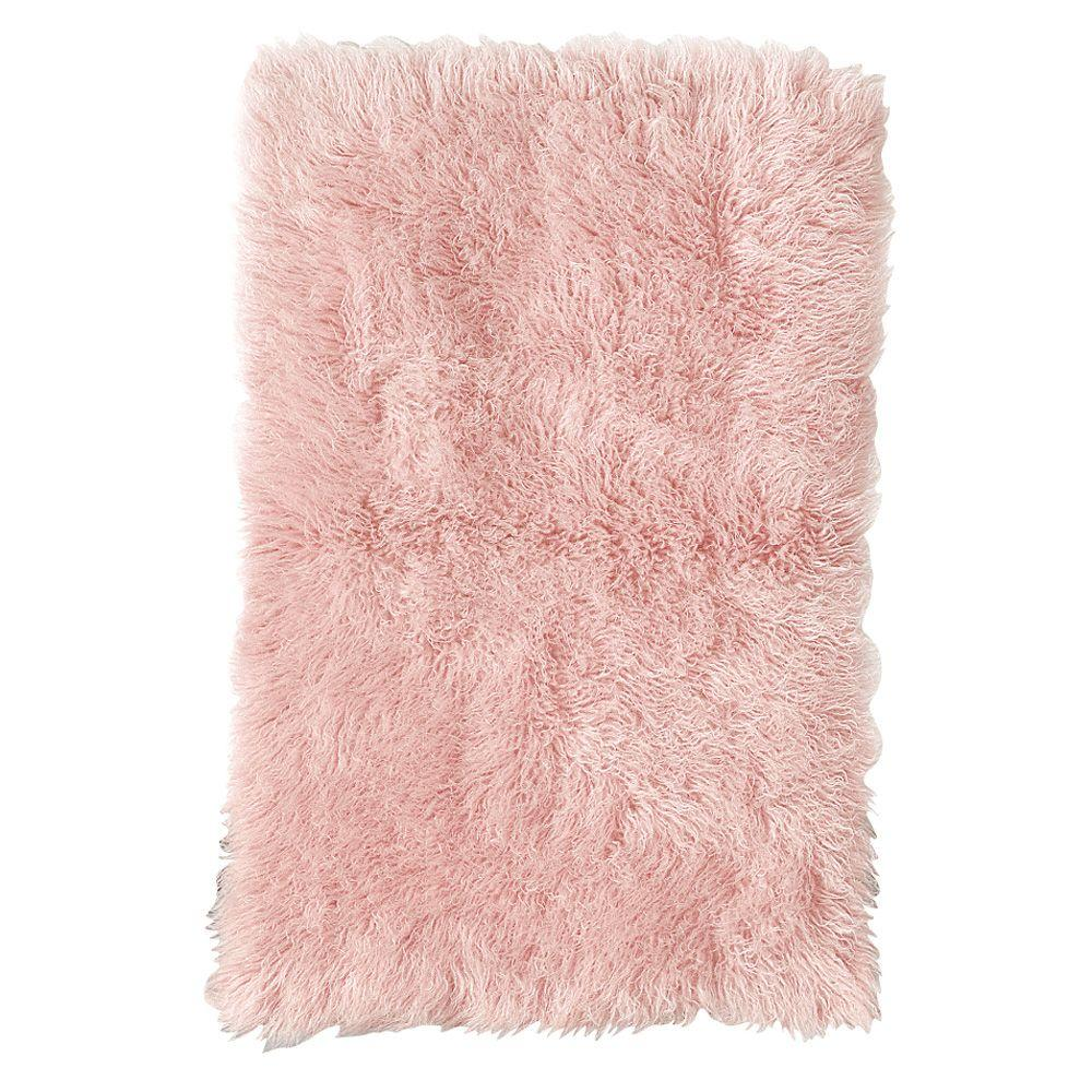 Home Decorators Collection Premium Flokati Pink 6 ft. x 9 ft. Area Rug