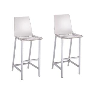 Stupendous Coaster Everyday 30 In Clear And Chrome Acrylic Bar Stool Caraccident5 Cool Chair Designs And Ideas Caraccident5Info