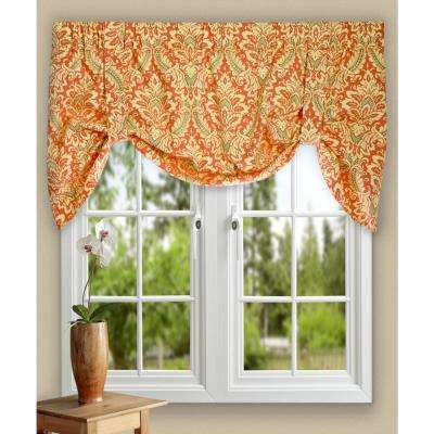 Donnington 21 in. L Cotton Lined Tie-up Valance in Clay