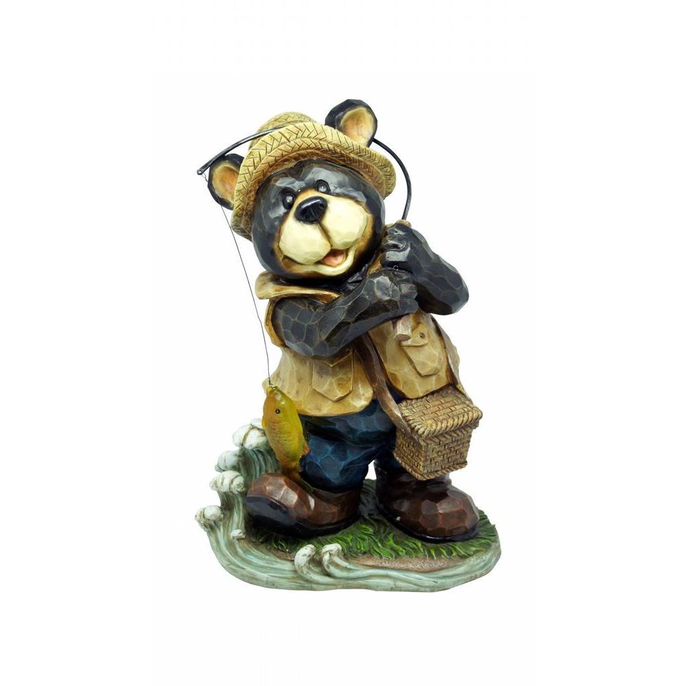 Charmant Polyresin Bear Garden Statue